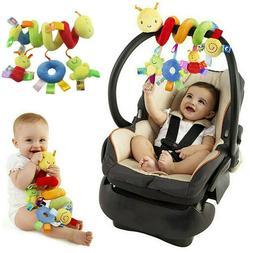 Baby Crib Cot Pram Hanging Rattle Spiral Stroller Car Seat P