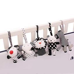SHILOH Baby Crib Stroller Carseat Decoration 5PCS White & Bl