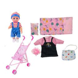 Realistic Baby Doll and Stroller Bag Sleeping Bag Set Kids R