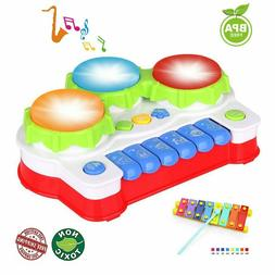 Baby Drums Musical Toys Piano Gifts Toys for 1 Year Old Todd