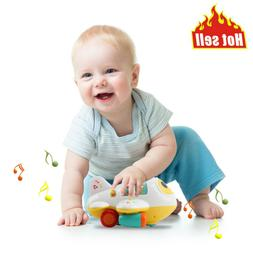 Baby Early Learning Toys Electronic Airplane W/Lights Music
