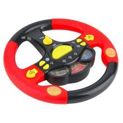 Baby Educational Steering Wheel Musical Lighting Toys Childr