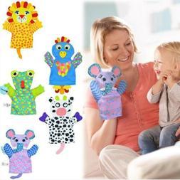 Baby Fingerpuppets Glove Soft Toy Plush Cartoon Animals Natu