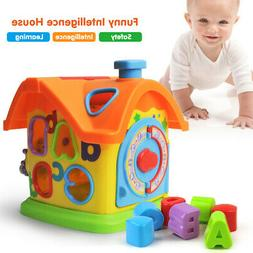 Baby Fun House Baby Toys Alphabet Sorting Blocks Learning To