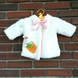 Gund Baby Girl 6 Months White Rabbit Easter Bunny Coat Jacke