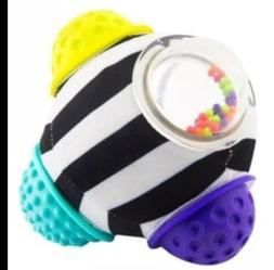 Baby Girl Boy Sassy Chime and Chew Textured Ball Multicolore