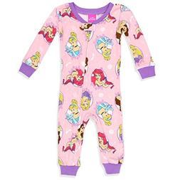 Disney Baby Girls Multi-Princess Cotton Non-Footed Pajama, P