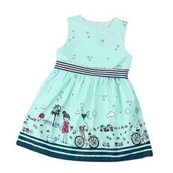Boomboom Baby Girls Summer Dress, Girls Sleeveless Fairy Tal