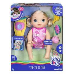 Baby Alive Baby Go Bye Bye Blonde Doll, 30+ Phrases -English