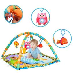Baby Gym Floor Play Mat + 5 Toys Activity Center Kick and Pl
