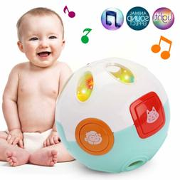 Baby Hand Bell Toy Rattles Sway Sound Grasp Ball Finger Acti