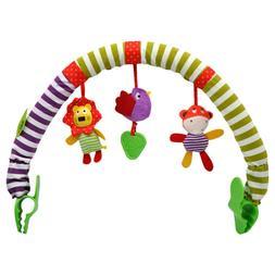 Baby Infant Crib Cot Pram Hanging Rattles Spiral Stroller Ca