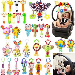Baby Infant Rattles Plush Animal Stroller Hanging Bell Play