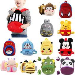Baby Kids Boys Girls Plush Mini Bags Cartoon Backpack School