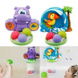 Baby Kids Child Bathtub Toy Mini Basketball Hoop & 3 Balls S