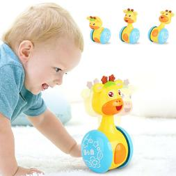 Baby Kids Rattles Tumbler Doll Toys Bell Music Learning Deve
