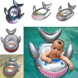 Baby Kids Swimming Ring Seat Cartoon Shark Shape Inflatable