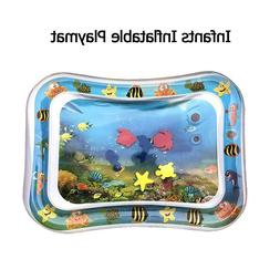 Baby Kids Water Play Mat Inflatable Infants Tummy Time Playm