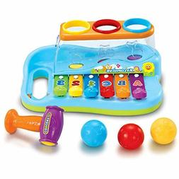 Baby Musical Toy with Color Sorting Balls and Hammer Poundin