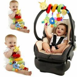 baby newborn infant hanging rattles around