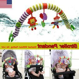 Baby Newborn Stroller Pram Travel Activity Spiral Toy Rattle