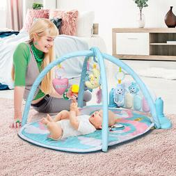 Baby Play Gym Mat w/ Play Piano & Funny Toys Newborn Infant
