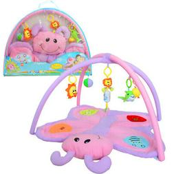 Baby Play Mat Soft Activity Gym Blanket Carpet with Rattles
