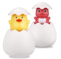 TOHIBEE Baby Pool Toys Duck and Dinosaur Eggs Squirt Toys Ba
