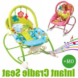 Baby Rocker Bouncer Reclining Chair Swing Music Vibration To