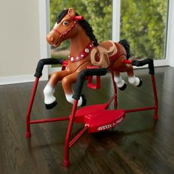 Baby Rocking Horse with 3 Levels Riding Walking Trotting and