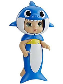 Baby Alive Baby Shark Blonde Hair Doll with Tail and Hood Wa