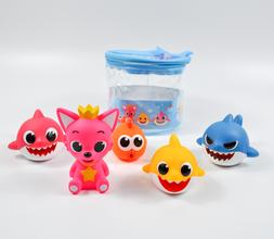 Pinkfong baby shark family water gun bathroom Squirts toy ov
