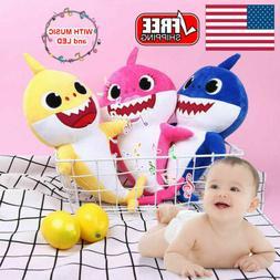 Baby Shark Plush Singing Toys Music Sound Soft Doll English