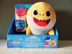 Baby Shark Song Doll + Mommy Daddy Cube 3 Pack Sound Ensembl