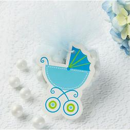BABY SHOWER BLUE BABY CARRIAGE GIFT TAGS  ~ Party Supplies F