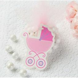 BABY SHOWER PINK BABY CARRIAGE GIFT TAGS  ~ Party Supplies F