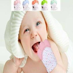 Baby Silicone Mitts Teething Teether Mitten Gloves Hand Wrap
