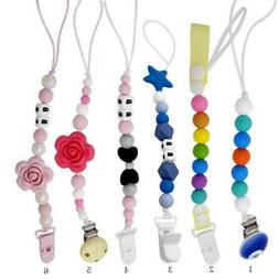 Baby Silicone Pacifier Holder Clip Chain Toys Dummy Nipple T