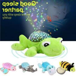Baby Sleep Lamp LED Night Light Plush Stuffed Toy Music/Star
