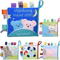 Baby Soft Books Animal Pattern Cloth Books Educational Cloth