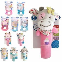 Baby Soft Rattle Infant Toys Handbell Cute Cartoon Animal Bo