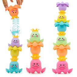 Baby Stacking Bath Toys Nesting Cups Toddler Water Playing O