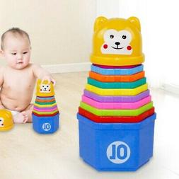 Baby Early Education Toys Stacking Nest Learning Stack Up Ra