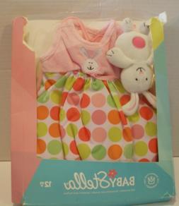 Manhattan Toy Baby Stella Easter Bunny Baby Doll Dress w/Bun