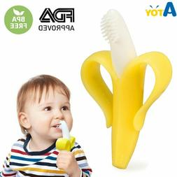 Baby Teether Silicone Bite & Brush Chewy Teething Healthy So