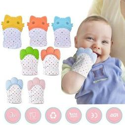 Baby Teether Silicone Mitts Teething Mitten Glove Candy Wrap
