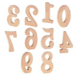 Baby Teething Toy Wooden Number Shape Beech Teether Gift Eco