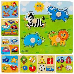 Baby Toddler Intelligence Animal Fruit Cars Cognize Wooden B