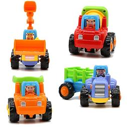 Motrent Baby Toddlers Push and Go Friction Powered Car Toys