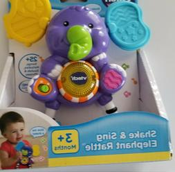 VTech Baby Toy 3+ Months Musical Elephant Shake Rattle Sing